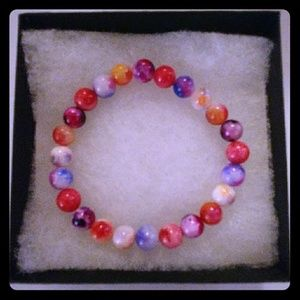 Jewelry - Mixed Multicolored Jade Stone Bracelet